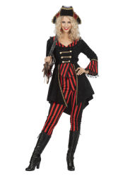 Dameskostuum Piraat - zwart