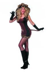 Dameskostuum Sexy Kat - bruin/zwart