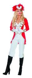 Dameskostuum Garde - rood/wit