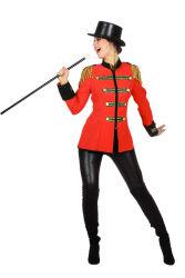 Carnavalsjas ''Circus'' voor Dames - rood/zwart/goud