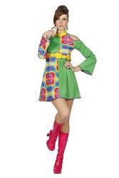 Hippie Jurk Dames - groen