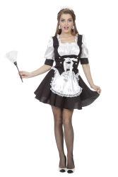 Schoonmaakster Kostuum voor Dames - zwart/wit