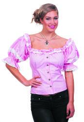 Damesblouse Tirol - roze/wit