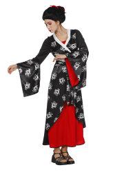 Aziatische Damesjurk - zwart/rood