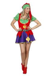 Sexy Kabouter Dameskostuum - rood/paars/groen
