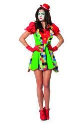 Clown Jurk voor Dames - groen/rood