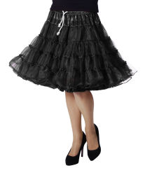Luxe Petticoat Drielaags - zwart