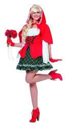 Roodkapje Kostuum Luxe voor Dames