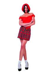 Schots Plooirokje voor Dames - rood