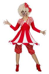 Dameskostuum Circustent - rood/wit