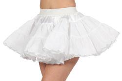 Luxe Petticoat Kort voor Dames - wit/zilver