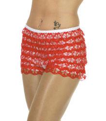 Dames broekje met kant - Rood/wit