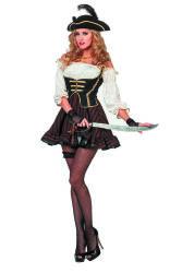 Dameskostuum Sexy Piraat - bruin