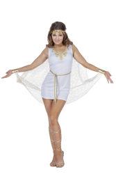 Sexy Romeinse Dameskostuum - wit