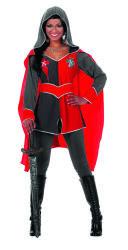 Dameskostuum Ridder Gwen - grijs/rood