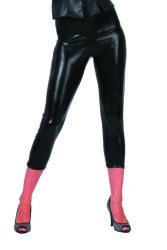 Korte Legging voor Dames - metellic zwart