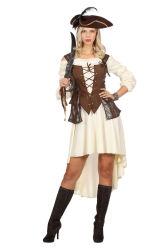 Piraten Jurk met Corset - bruin