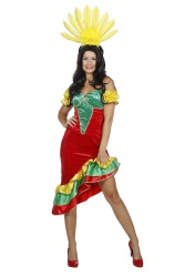 Braziliaanse Samba Jurk - rood/geel/groen