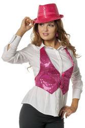 Vestje met Pailletten voor Dames - roze
