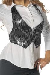 Vestje met Pailletten voor Dames - zwart