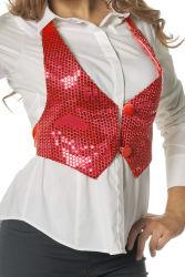 Vestje met Pailletten voor Dames - rood