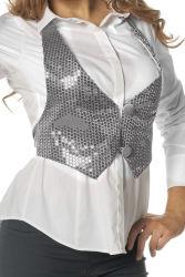 Vestje met Pailletten voor Dames - zilver