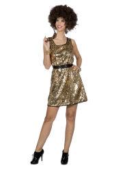 Damesjurk jaren 80 Disco Queen - goud