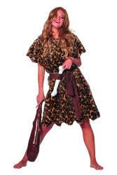 Holbewoonster kostuum voor Dames - panterprint