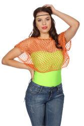 Netshirt Korte Mouwen - neon oranje