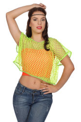 Netshirt Korte Mouwen - neon geel