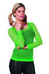 Netshirt Lange Mouwen - neon groen