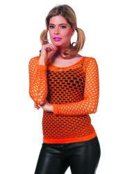 Netshirt Lange Mouwen - neon oranje