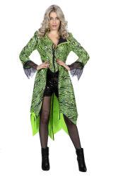 Carnavalsjas Draak voor Dames - groen