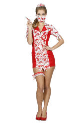 Sexy Zombie Verpleegster Kostuum voor Dames