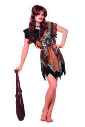 Sexy Holbewoonster Kostuum voor Dames Velboa