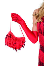 Handtas pailletten - rood