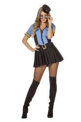 Sexy Politie Kostuum voor Dames - blauw