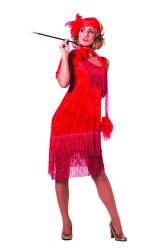 Rode Charleston Damesjurk