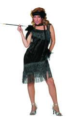 Luxe Charleston Damesjurk - zwart