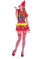 Sexy Clown Kostuum voor Dames - Stippen