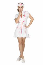 Sexy Halloween Verpleegster Dameskostuum - wit