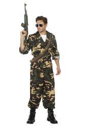 Herenkostuum Militair Camouflage - groen