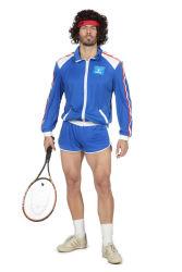 Jaren 80 Kort Tennis Trainingspak voor Heren - blauw