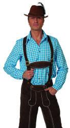 Overhemd Tiroler voor Heren Geruit - blauw/wit