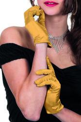 Gala handschoen satijn 20cm - goud