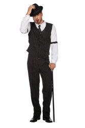 Gangster Kostuum voor Heren - zwart