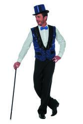 Vest met Pailletten voor Heren - blauw
