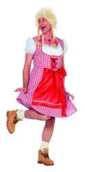 Edelweiss Dirndl Jurk voor Heren - roze/rood