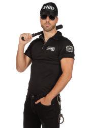S.W.A.T. Shirt voor Heren - zwart