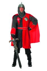 Ridder Kostuum Arthur voor Heren- grijs/rood